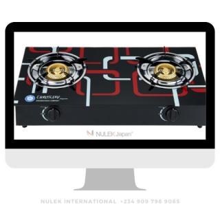 Euroking 2Hob Glass Top Gas Cooker - Model EKG-501B