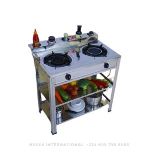 Nulek 2Hob Standing Gas Stove - Model NKG-221B