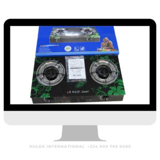 Nulek 2Hop Glass Top Gas Cooker - Model NKG-218B
