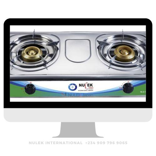 Nulek 2Hob Stainless Steel Gas - Model NLG-1214B