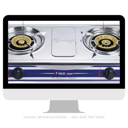 Nulek 2Hob Stainless Steel Top Gas Cooker - Model NKG-2A16