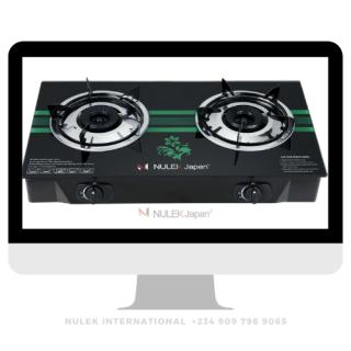 Nulek 2Hob Glass Top Gas Cooker - Model NKG-816B