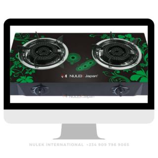 Nulek 2Hob Glass Top Gas Cooker - Model NKG-802B