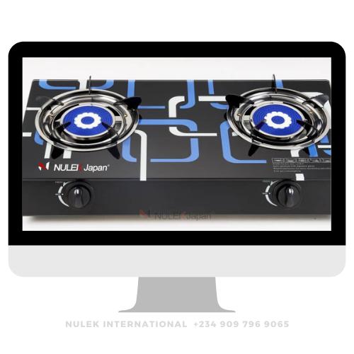 Nulek 2Hob Glass Top Gas Cooker - Model NKG-219